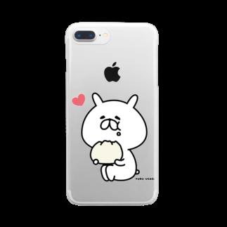 chococo_yuruusagiのゆるうさぎ はむはむ3 クリアスマートフォンケース
