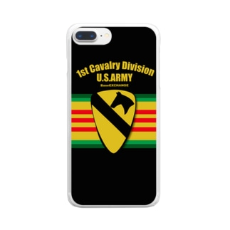 第一騎兵師団 BaseEXCHANGE Clear smartphone cases