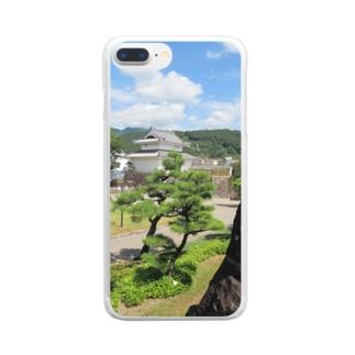 日本の城:甲府城稲荷櫓の風景写真 Japanese castle: Inariyagura of Kofu castle Clear smartphone cases