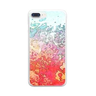 あつすぎ Clear smartphone cases