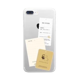 紙もの集め(タグ) ※iPhone11,12以外用 Clear smartphone cases