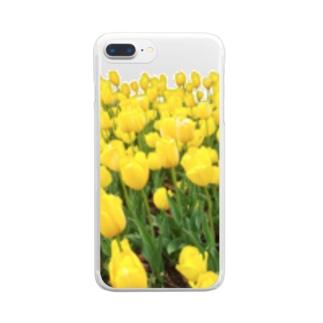 ニムニムのお部屋のきいろい ちうりっぷ Clear smartphone cases