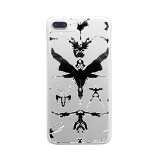 霧蛾夢虫01 Clear smartphone cases