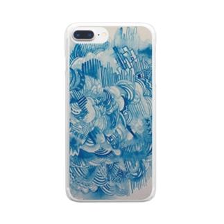 青の世界 Clear Smartphone Case