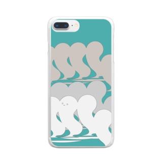 かくれんぼ大好きボウズ! Clear smartphone cases