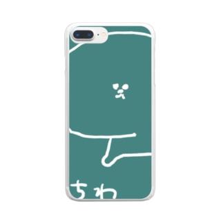 つみれちゃん太郎さん Clear smartphone cases