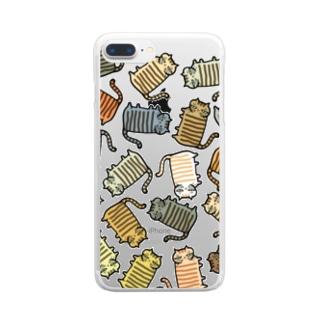 いろいろなしましまねこ Clear smartphone cases