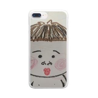 ポンちゃん Clear smartphone cases