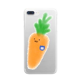 まだ幼稚園生のにんじん Clear smartphone cases