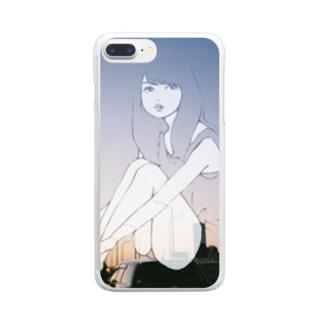 夕日少女 Clear smartphone cases