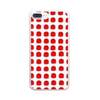 たこまみれ Clear smartphone cases