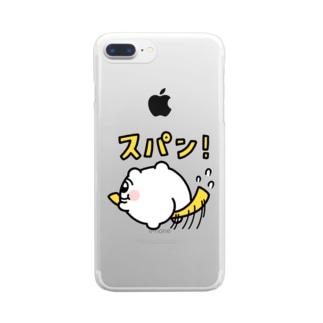 スパン!🍑 Clear smartphone cases