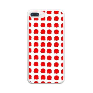 たこスマホケース Clear smartphone cases