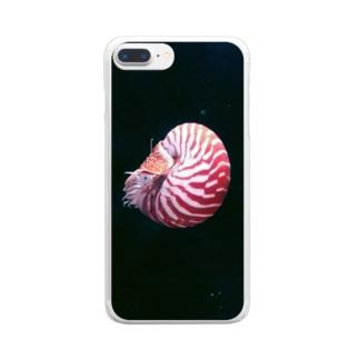 頭足類:オウムガイの水中写真 Nautilus Clear smartphone cases