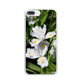 日本の花:ヒメシャガ Iris gracilipes A. Gray Clear smartphone cases