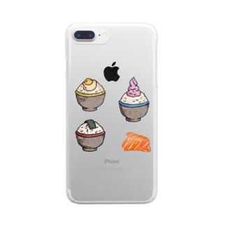 ご飯 Clear smartphone cases