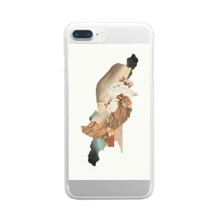 圧縮/限界 Clear smartphone cases
