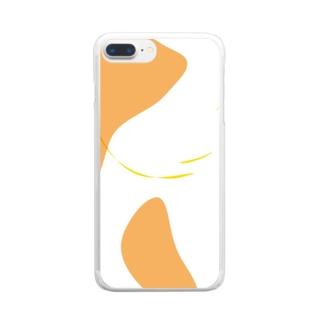 おはなきのこ Clear smartphone cases