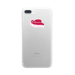 生肉 Clear smartphone cases