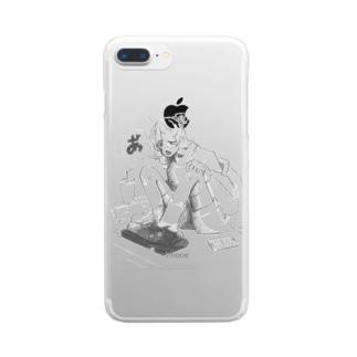「あ」っちゃん Clear smartphone cases