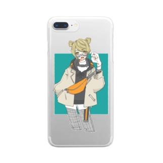 優くんのすずりの虎ガール Clear smartphone cases