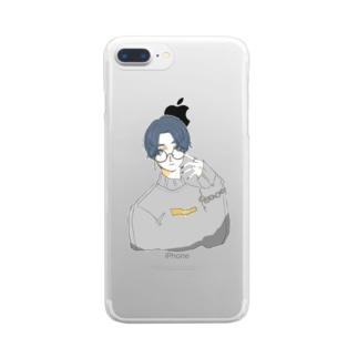 おめめキラキラボーイ Clear smartphone cases