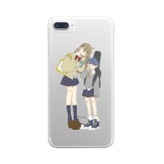 はいチーズ!な2人 Clear smartphone cases