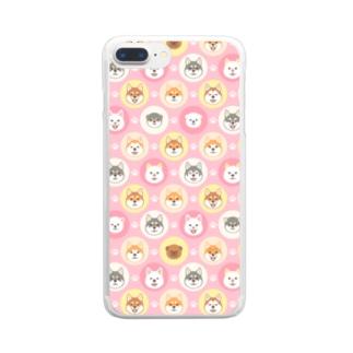 柴犬ざんまい Clear smartphone cases