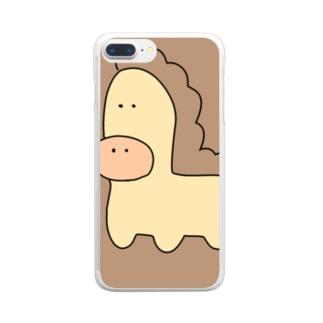 ちょっと残念すぎる馬 Clear smartphone cases