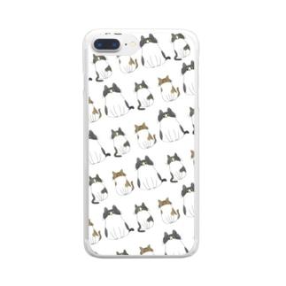 むっちりーズ Clear smartphone cases
