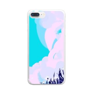 せんの空が高い日 Clear smartphone cases
