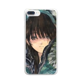 寒いね Clear smartphone cases