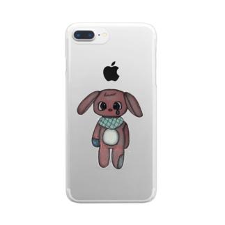 うさぎのベソちゃん Clear smartphone cases