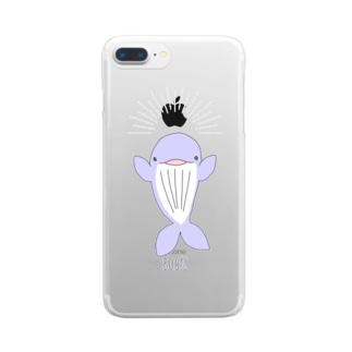 ばぁするクジラ Clear smartphone cases