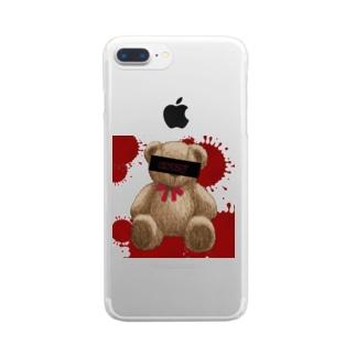 クレイジーベアー Clear smartphone cases