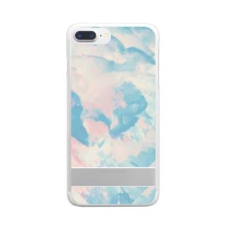 芍薬 Clear smartphone cases