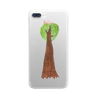 ジャンアントセコイア Clear smartphone cases