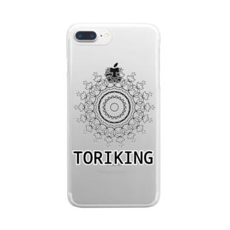 とりきんぐ Clear smartphone cases