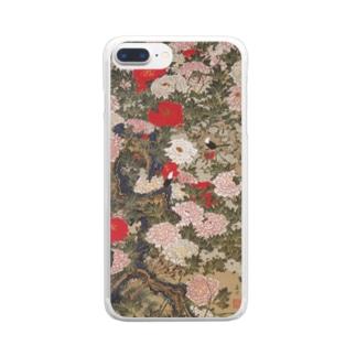伊藤若冲《牡丹小禽図》 Clear Smartphone Case