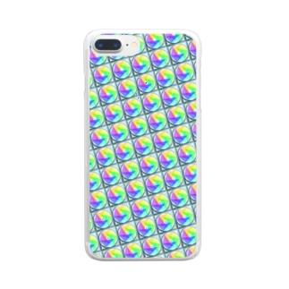 模様216 Clear smartphone cases