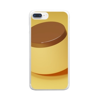 floating pudding Clear smartphone cases