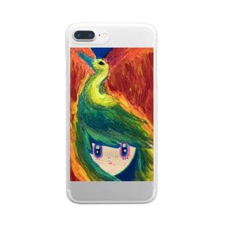 星を抱く子供を導く不死鳥 Clear smartphone cases
