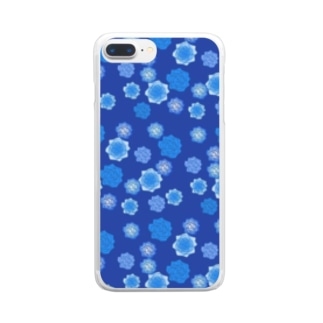 ROSE(ネイビー) Clear smartphone cases