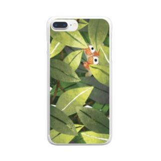 森とシーサー スマホケース Clear smartphone cases