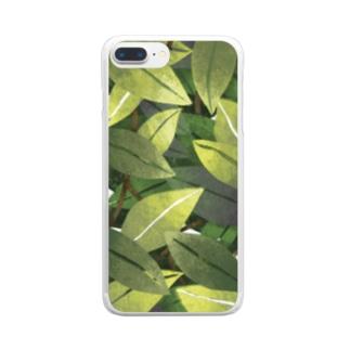森のパターン スマホケース Clear smartphone cases