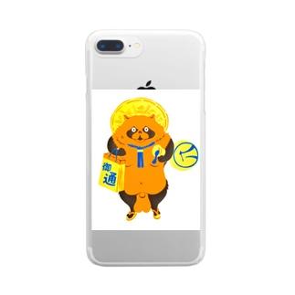 信楽たぬき風たぬき Clear smartphone cases