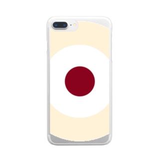 サークルa・クリーム2・白・チョコ Clear smartphone cases