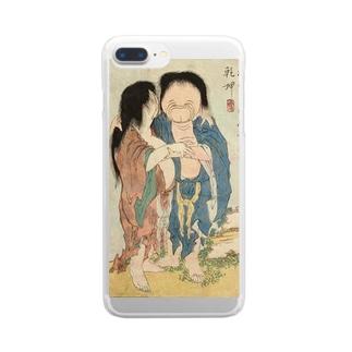 葛飾北斎 春画 妖怪 Clear smartphone cases
