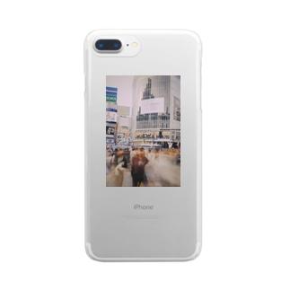 スクランブル交差点 Clear smartphone cases