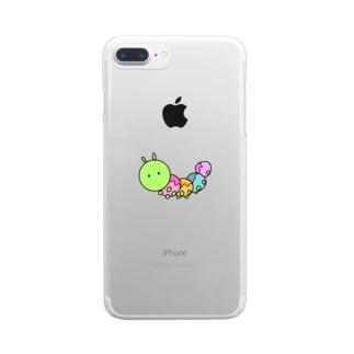 イモムシ Clear Smartphone Case